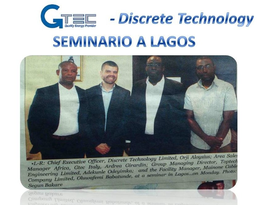 Meeting in Lagos – Seminario presso Discrete Tecnology